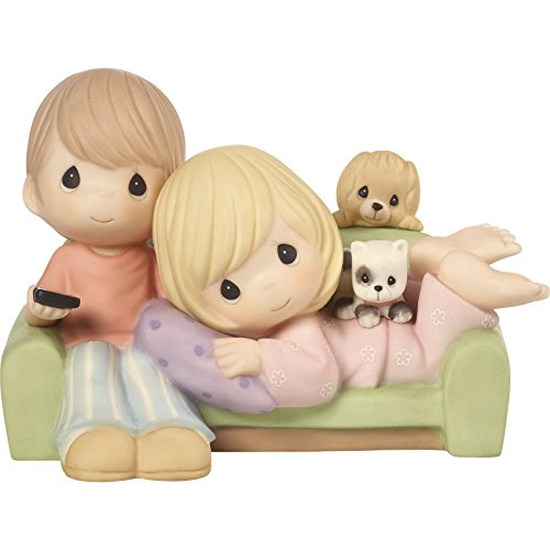 Precious Moments 172005 You're My Favorite Place To Be Couple Together on Couch Bisque Porcelain Figurine from Precious Moments