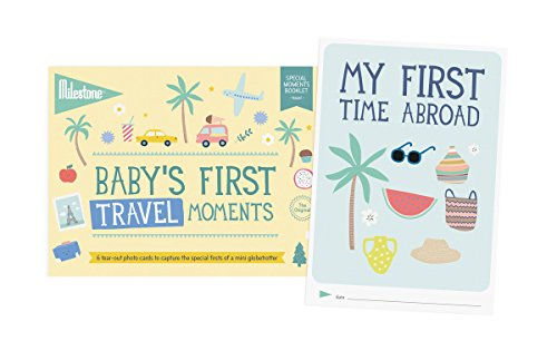 Milestone - Baby's First Travel Moments Photo Card Booklet - Tear out booklet of 6 Photo Cards to Capture Your Baby's First Memorable Travel Moments