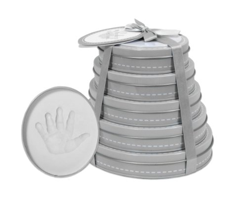 Child to Cherish Handprint Tower of Time Oval, Grey by Child to Cherish