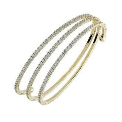 Bracelet-Femme-Argent-Oxyde de zirconium-Or
