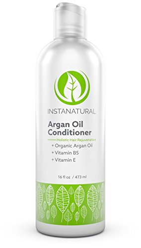 Argan Oil Conditioner - With 100% Certified Organic Moroccan Argan Oil & Vitamin B5 - Holistic Treatment for Soft & Silky Hair - Deluxe Nourishment to Hydrate Dry Scalp - InstaNatural - 16 OZ from InstaNatural