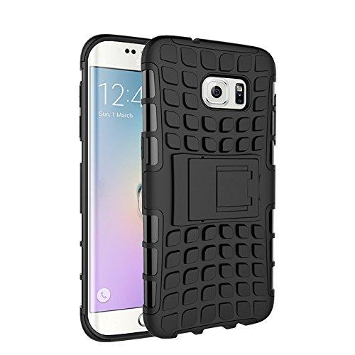 Galaxy S7 Edge Funda,COOLKE Duro resistente Choque Heavy Duty Case Hybrid Outdoor Cover case Bumper protección Funda Para Samsung Galaxy S7 Edge - Azul negro