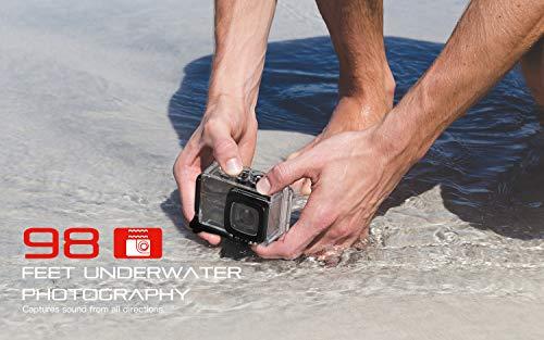 COOAU Action Camera 4K 20MP HD WiFi 98ft Waterproof Sports