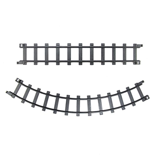 Northlight Pack of 12 Black Replacement Train Set Track Pieces - 2