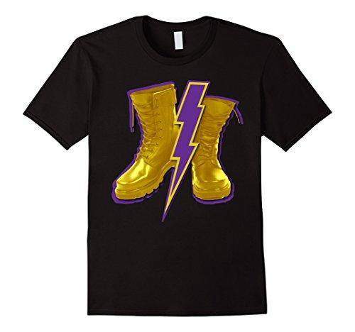 Mens Omega Gold Purple Q Psi Phi Army Boots T-Shirt 4 Lightning XL (Omega Psi Phi Clothing)