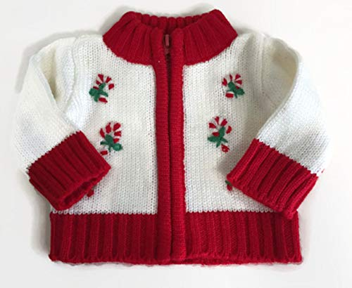 American Girl Sweater - Christmas Candy Cane Sweater for 18 inch American Girl Doll Clothes