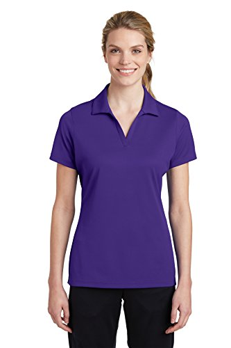 - Sport-Tek Ladies PosiCharge RacerMesh Polo L Purple