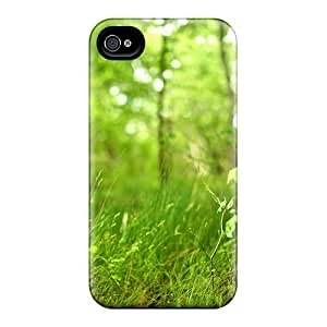 MEjcSZm849WFwUP Depth Of Field Forest Grass Awesome High Quality Iphone 4/4s Case Skin