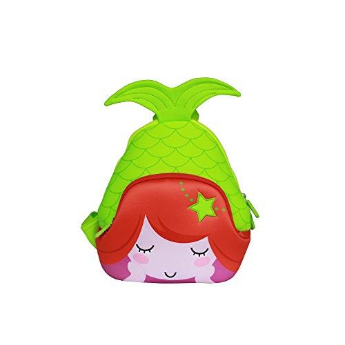 Nohoo Kids Mermaid Backpack 3D Cute Sea Cartoon School Girls twins Bags (3D-mermaid-green)