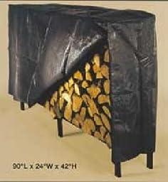 Black poly cover for 87\'\' log rack