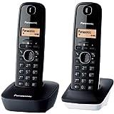 Panasonic KX-TG1612 2-Handset Digital Cordless Telephone, 220 Volts (Not for USA)