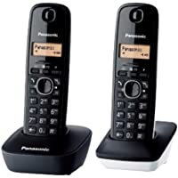 Panasonic KX-TG1612 2-Handset Digital Cordless Telephone, 220 Volts (Not for USA)