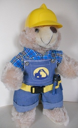 Construction Worker With Hard Hat Outfit Teddy Bear Clothes Fit 14