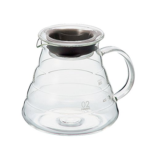 Hario V60''Clear'' Glass Range Coffee Server, 600ml by Hario