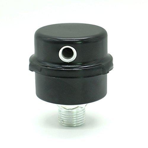 Pomeat Metal Air Compressor 1/2' PT Thread Connector Muffler Filter Silencer,Black