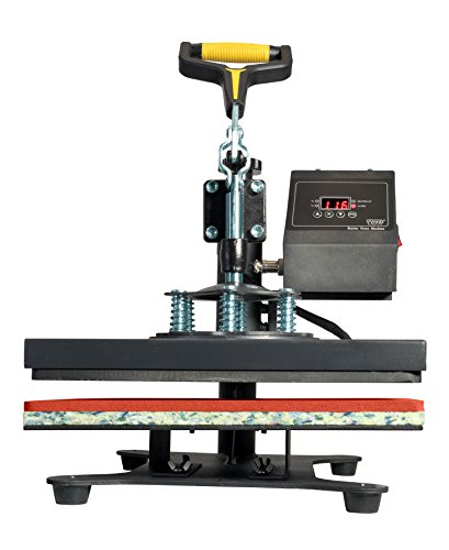 "VViViD 10"" x 12"" Flat Garment Heat Press Machine w/Digital Readout Gauge"