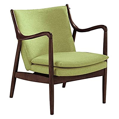 """Baxton Studios Shakespeare Accent Chair - Polyester/rubberwood 28.47""""W x 30.62""""D x 30.81""""H Assembly required - living-room-furniture, living-room, accent-chairs - 41Z0hMVUZiL. SS400  -"""