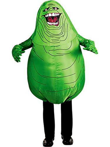 ADULT GHOST BUSTERS GREEN SLIMER INFLATABLE COSTUME -