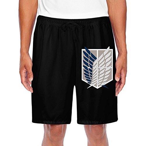 AGMPO Men's Attack On Titan Jiyuu No Tsubasa Shorts - Sweatpants On Attack Titan