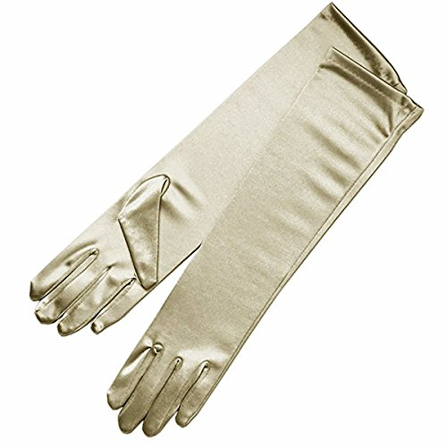 Sunny zeyu Stretch Satin Halloween Cosplay Gloves Long Above the elbow length Bridal Dance Gloves G10