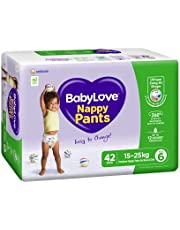 BabyLove Premium Nappy Pants, Size 6 (15-25kg), 84 Nappies (2x 42 pack)