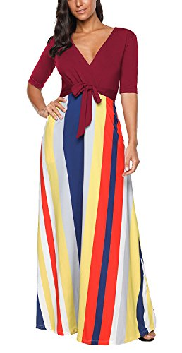 Maternity Dress Ruched Sleeve (ICEbear Half Sleeve Maternity Maxi Dress for Women Long Flowy Ruched Casual Gown)