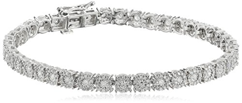"14k Round Diamond White Gold Tennis Bracelet (2cttw, I J Color, I2 I3 Clarity), 7"""