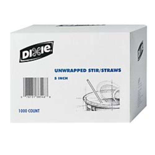 GEORGIA PACIFIC HS5CC DXEHS5CC Dixie(R) Coffee Stirrers, Box Of 1000, 1, White ()