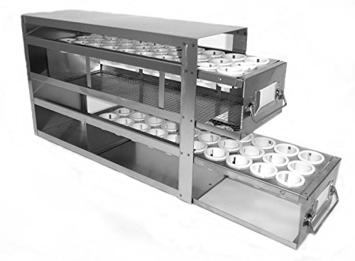 (DURA RACK XPRESS UFD-T50-2 Stainless Steel Freezer Drawer Rack for 50ml Conical)