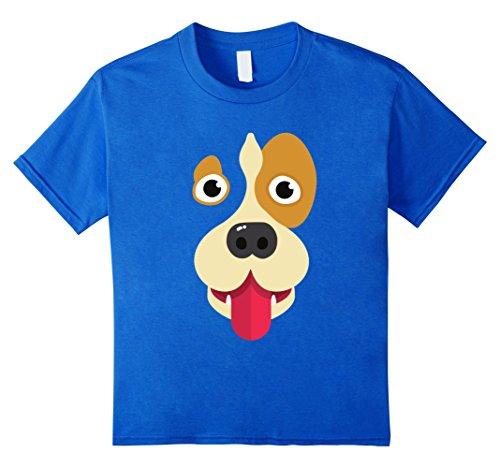 Kids Tongue Out Emoji Super Cute Dog Face Halloween Costume Shirt 6 Royal Blue