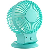 Loveprint Mini Mute Portable Rechargeable Fan Desktop USB Fan Oscillating Table Fan Air Circulator Fan Personal for Traveling Hiking Fishing Camping Desktop Home Office Dorm