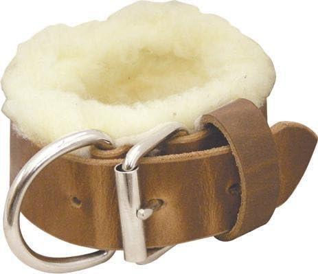 Harness Abetta Leather//Fleece Stake Hobble 1 3//4 Cuff