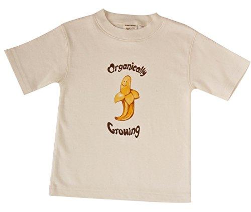 Growing Organically Banana - Short Sleeve Organic Cotton Baby Tee Shirt (18-24m, Banana)