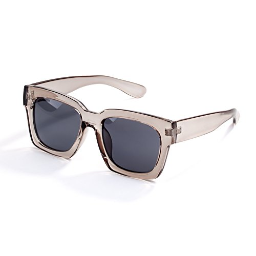 Oversized Fashion Sunglasses for Women Transparent Square Frame for Small Face,FDA Standard Glasses,100%UVA/UVB Protection - Face Frames A Square For