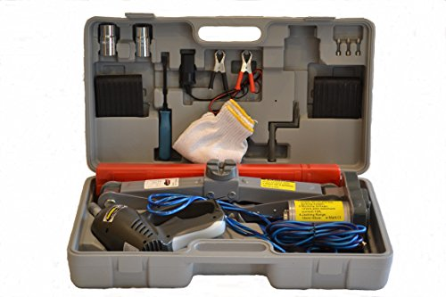 3 Ton Electric Scissor Jack 12v w/ Impact Wrench 12v - Flat Tire Changing Kit (Everything included as seen), On-Line Video