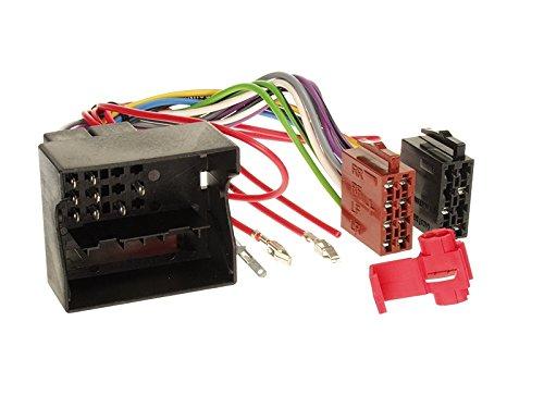 Zubeh/ör und Radioblende//Einbaurahmen schwarz Radioanschlusskabel VW Fox 05-11 1-DIN Autoradio Einbauset in original Plug/&Play Qualit/ät mit Antennenadapter