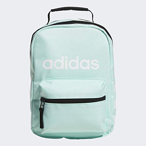 adidas Unisex Santiago Insulated Lunch Bag, Clear Mint Green/ Black/ White, ONE SIZE