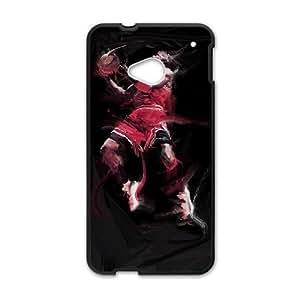 HTC One M7 phone case Black Michael Jordan AAAD1781211