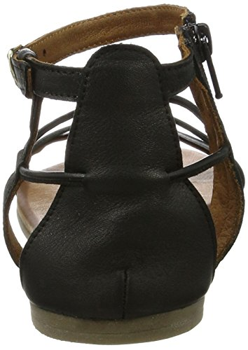 Tamaris 28043, Sandalias con Cuña para Mujer Negro (Black 001)