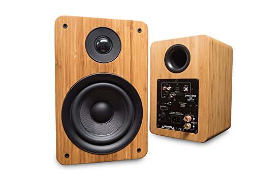 Peachtree Audio M25 Powered Speakers (Pair) - Real Bamboo (Best Stand Alone Speakers)