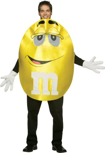 M&m Adult Costumes (Rasta Imposta M&M's Character Deluxe, Yellow, One Size)