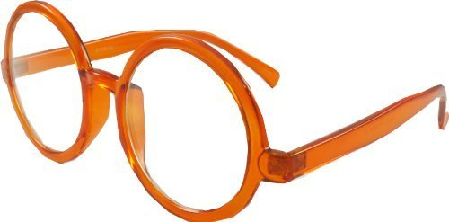 Revive Eyewear Men's Retro Vintage 30's Prof Geek Orange Frame/ Clear Lens Non Polarized Glasses - Geek Uk Glasses