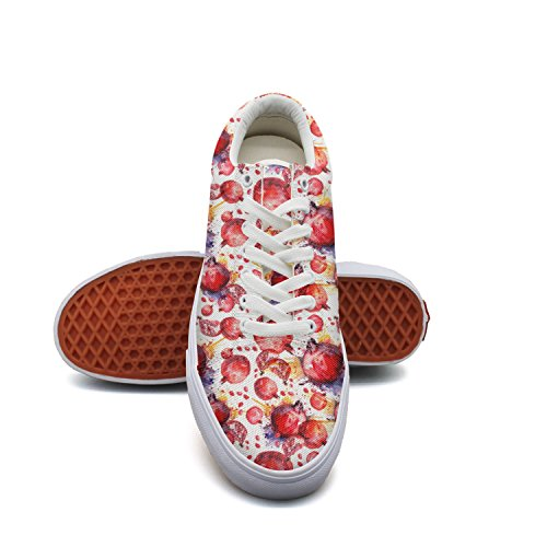 Price comparison product image Pomegranate Postcards Woman's Casual Sneakers Shoes Footwear Slip Cute Vegan