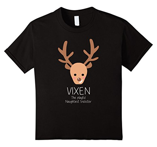 Kids Reindeer Vixen Christmas Matching Group Costume T-Shirt 12 (Vixen Reindeer Costumes)