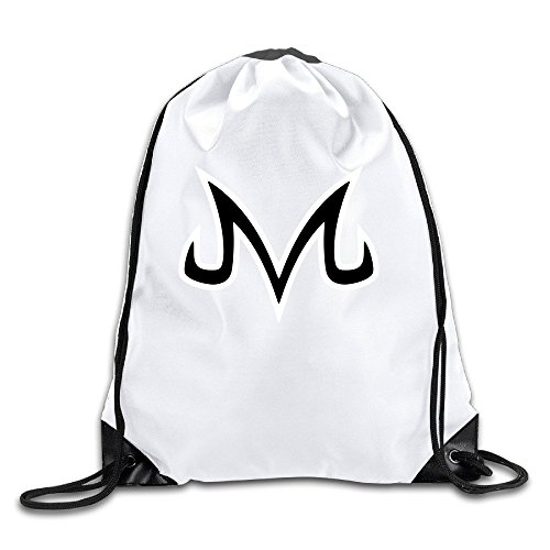Dragon Ball Z Gear (Vegeta Majin Dragonball Z White Drawstring Backpack Sport Bag For Men & Women)