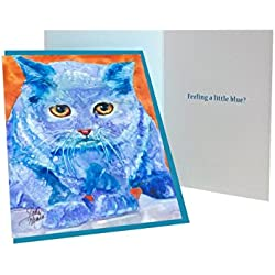 Rainbow Card Company Caustic Cats Greeting Card - Milton