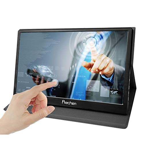 Multi Touch Interface - Prechen Portable Touchscreen Monitor,15.6 inch USB Touch Screen Monitor 1920x1080 Resolution with Dual HDMI Interface USB Powered Compatible PS3/PS4 XBOX360 Computer Laptop Raspberry pi 1 2 3