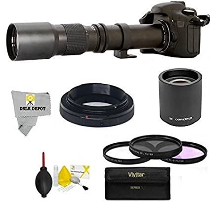 Amazon com : High-Power 500mm/1000mm f/8 Manual Telephoto