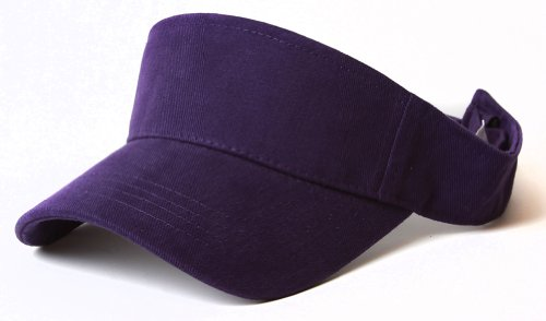 New Plain Sports Visors (Comes In Many Different Colors), Purple (Golfing Hats)