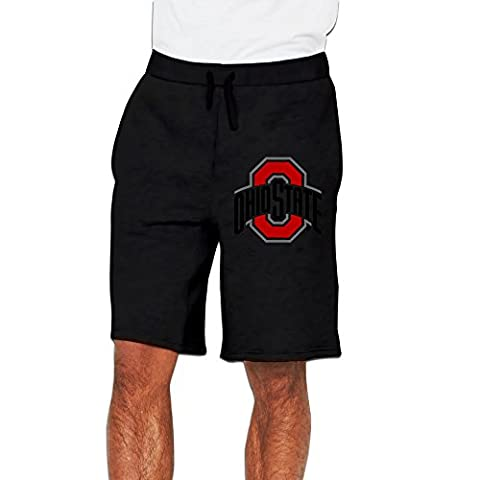 Men's Ohio State Football Cotton Short Pants Black US Size M (John Cena Pants Belt)